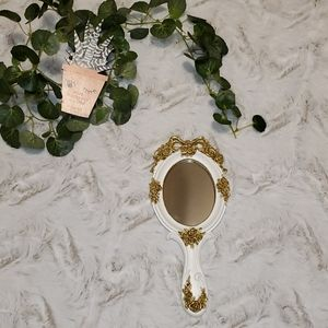 Painted resin hand mirror